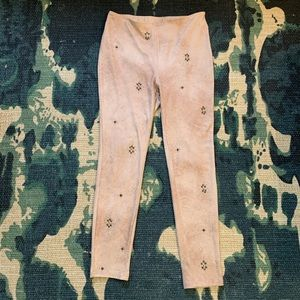 FreePeople Studded Rose Vegan Suede Pants
